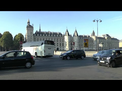 Walk around Paris France Gare du Nord Jardin du Luxembourg