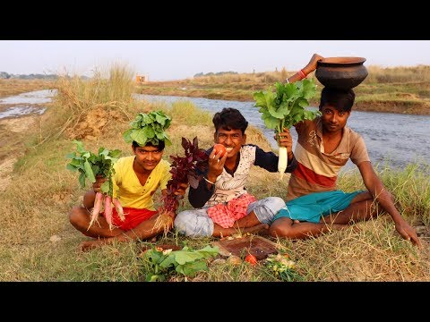 Indian Dal Chawal & Farm Fresh Vegetable Khichuri Recipe | Village Food Recipes by vilfood