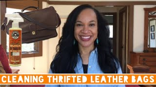 Cleaning Thrifted Leather Bags | Vintage COACH