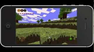 Minebuilder iPhone Demo + Gameplay (BEST MINECRAFT CLONE?!)