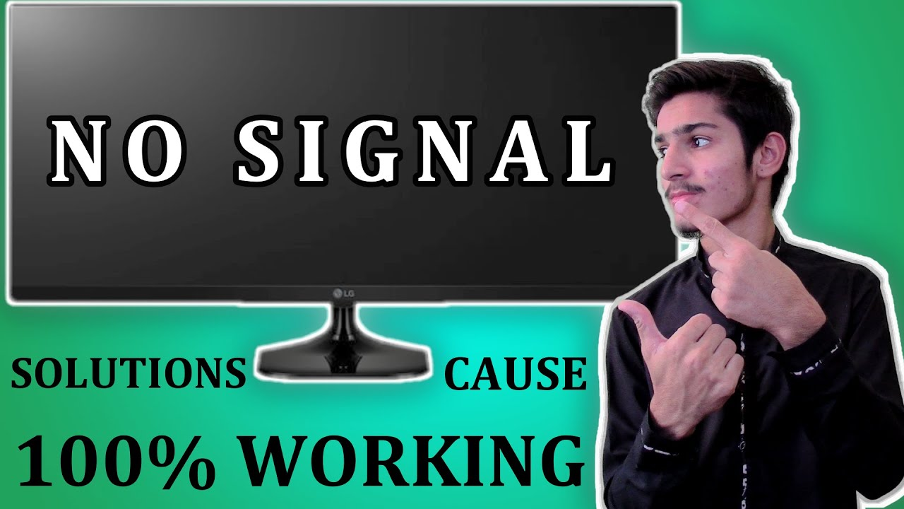 HOW TO FIX NO DISPLAY OR NO SIGNAL MONITOR | [2020]