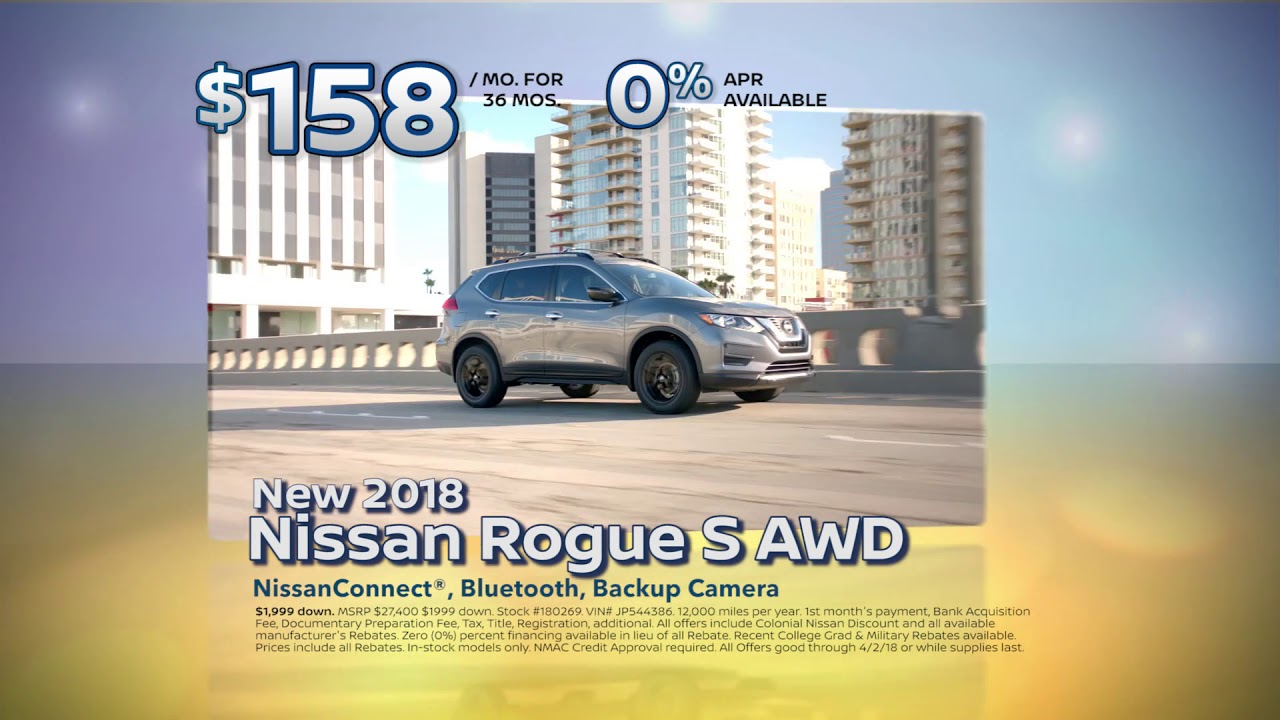 Colonial Nissan Of Medford Rogue March 2018 Special