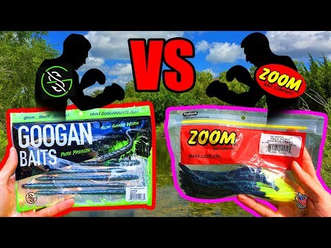 Googan Baits VS Zoom Baits! (On The Water Test!) - Which Catches More?