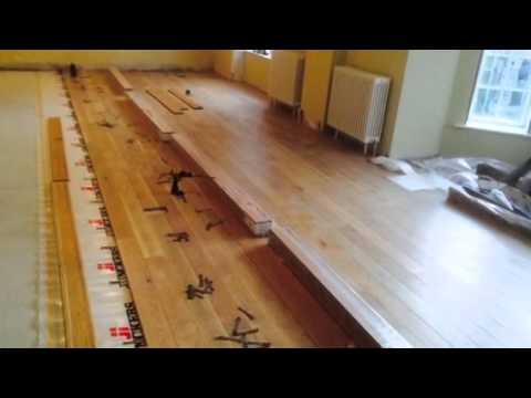 Oak floating floor in Killarney house.