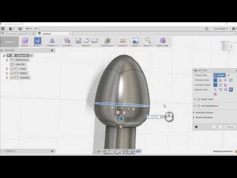 Lofting And Shelling A Cone In Fusion 360 Doovi