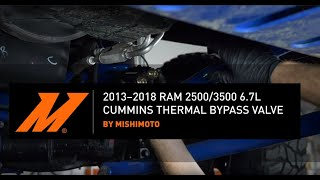 homepage tile video photo for 2013-2018 Dodge Ram 6.7L Cummins Thermal Bypass Valve Installation Guide by Mishimoto