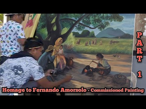 HOMAGE TO FERNANDO AMORSOLO – COMMISSIONED LANDSCAPE PAINTING Part 1