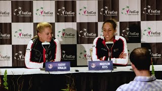 Fed Cup Post Match Press Conference: Captain Kathy Rinaldi and Madison Keys