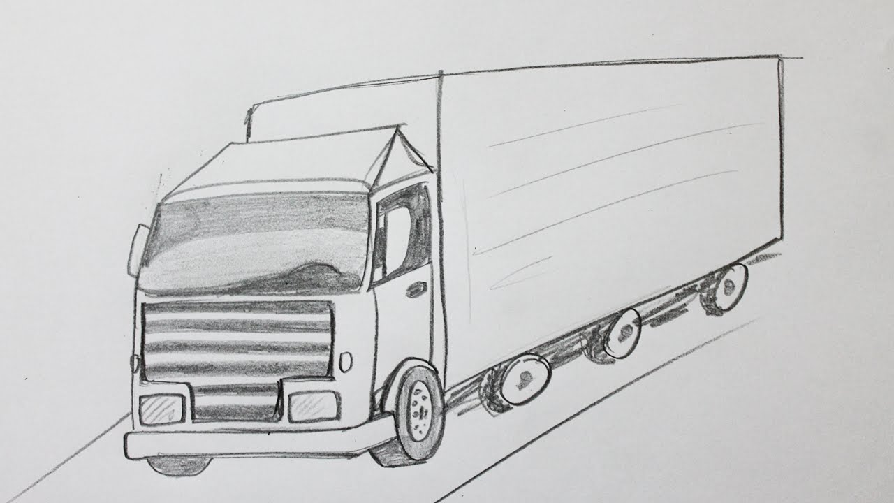 Comment Dessiner Un Camion Youtube
