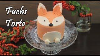 FUCHS TORTE BACKEN | Salted Caramel Motivtorte selber machen [Fondant Mini Cakes / Törtchen]