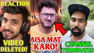 CarryMinati's MESSAGE For These YouTubers... | Techno Gamerz Video DELETED! | GauravZone, Amit, KSI