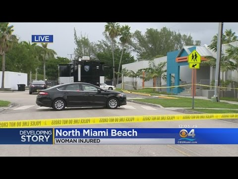 Crime Tape Goes Up After Woman Injured At North Miami Beach Library