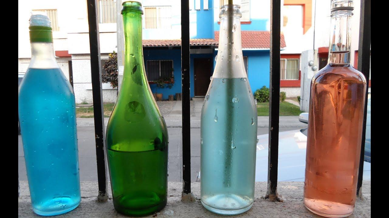 Recicla tus botellas de vidrio youtube - Decorar botellas de cristal ...