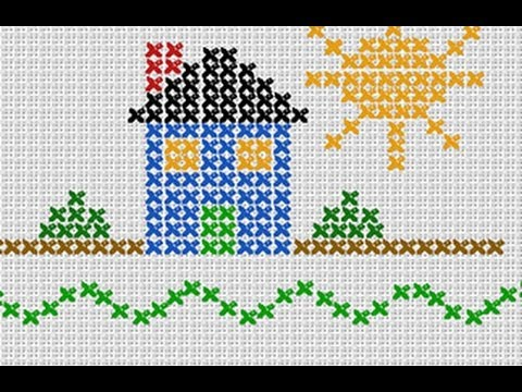 Photoshop Tutorial How To Make A Custom Needlework Sampler Youtube