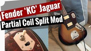 partial coil split mod for the fender kurt cobain jaguar - youtube  youtube