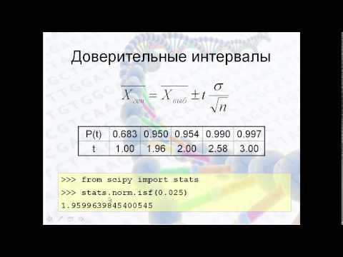 Лекция 4. Видео 4. Статистические методы, часть 1