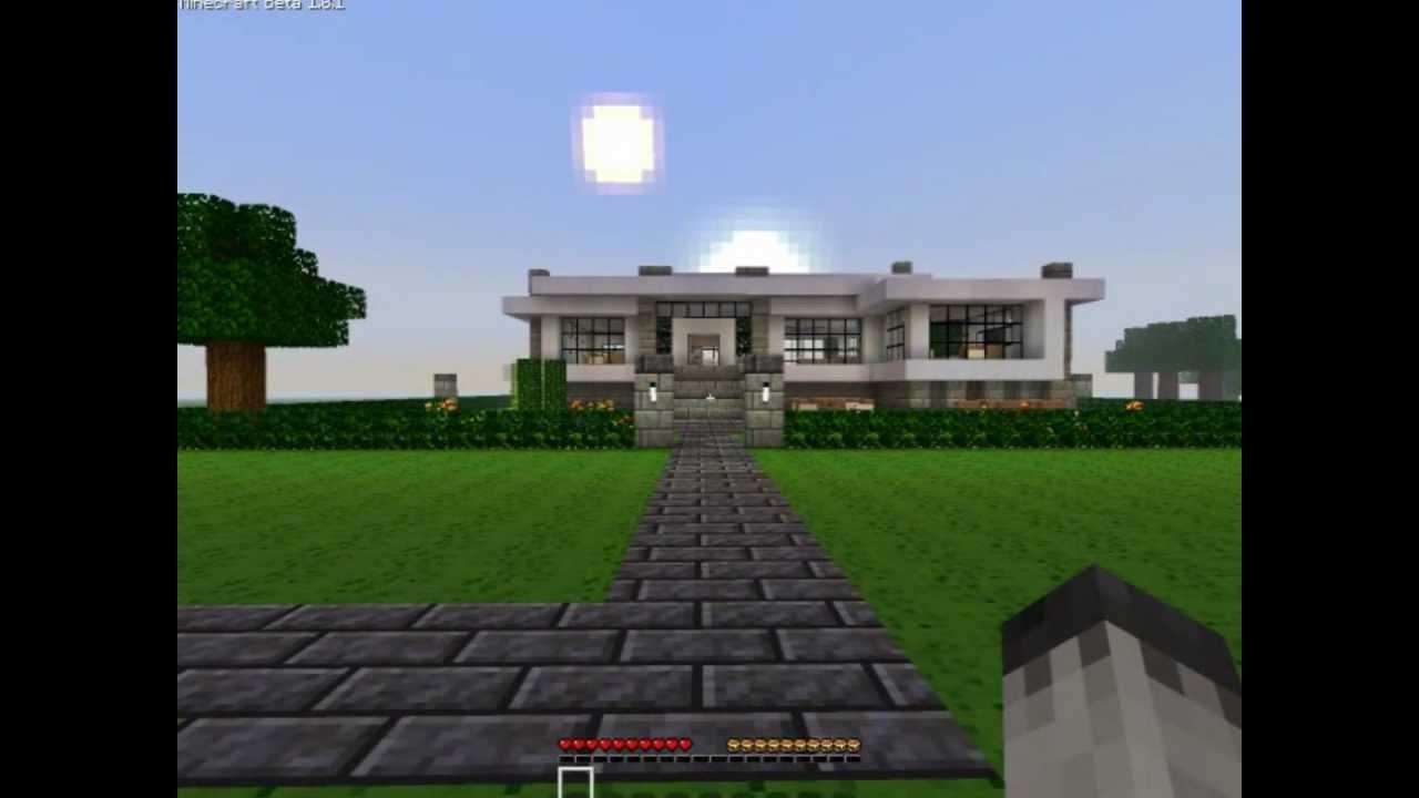 Minecraft Modern Neighborhood  House one download HD  YouTube