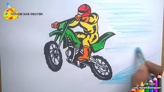 Vẽ tranh Đua xe mô tô/How to draw Racing Motorcycle