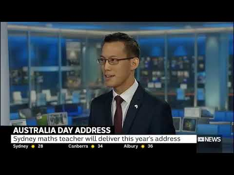 Eddie Woo & the Australia Day Address (ABC News 24 on 18 Jan 2018)
