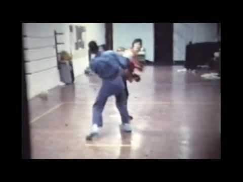 Ray Rice Black Belt Sparring with Student 1970's Vintage Karate Film