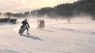 Зимний мотокросс по льду 2014