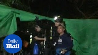 People thank the last divers as Thailand cave rescue mission ends