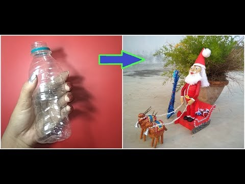 Santa Claus Made By Wastage plastic Bottle & News Papers