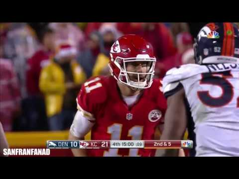 Alex Smith vs Broncos (NFL SNF Week 16 - 2016) - 290 Yards, 2 TDs + INT! | NFL Highlights HD