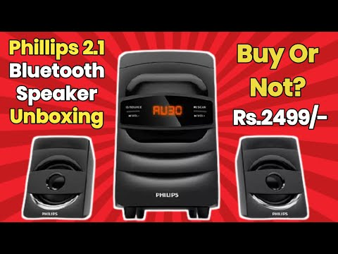 Phillips Home Theatre Unboxing || Phillips MMS2625B  Bluetooth 2.1 Speaker Unboxing
