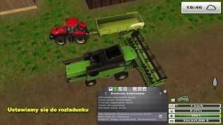 Poradnik Courseplay - kombajn opróżnia zbiornik a traktor wyładowuje zboże (LS 2013)