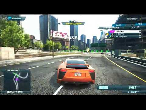 NFS Most Wanted (2012): Online Race With LFA (Stopping Power)