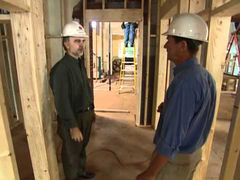 How to Frame Walls  - Renovating 300-Year-Old Governor's Mansion -  Bob Vila eps.2006
