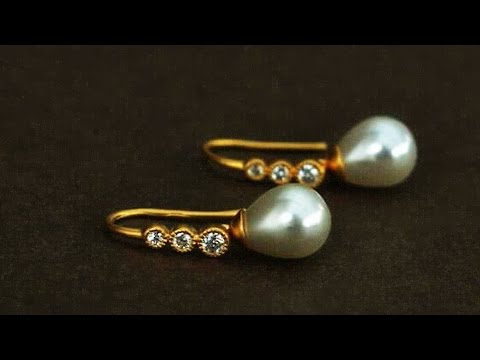 Light Weight Pearl And Gold Daily Wearable Earrings Designs