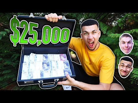 FIRST PERSON TO FIND $25,000 CASH PRANK!!