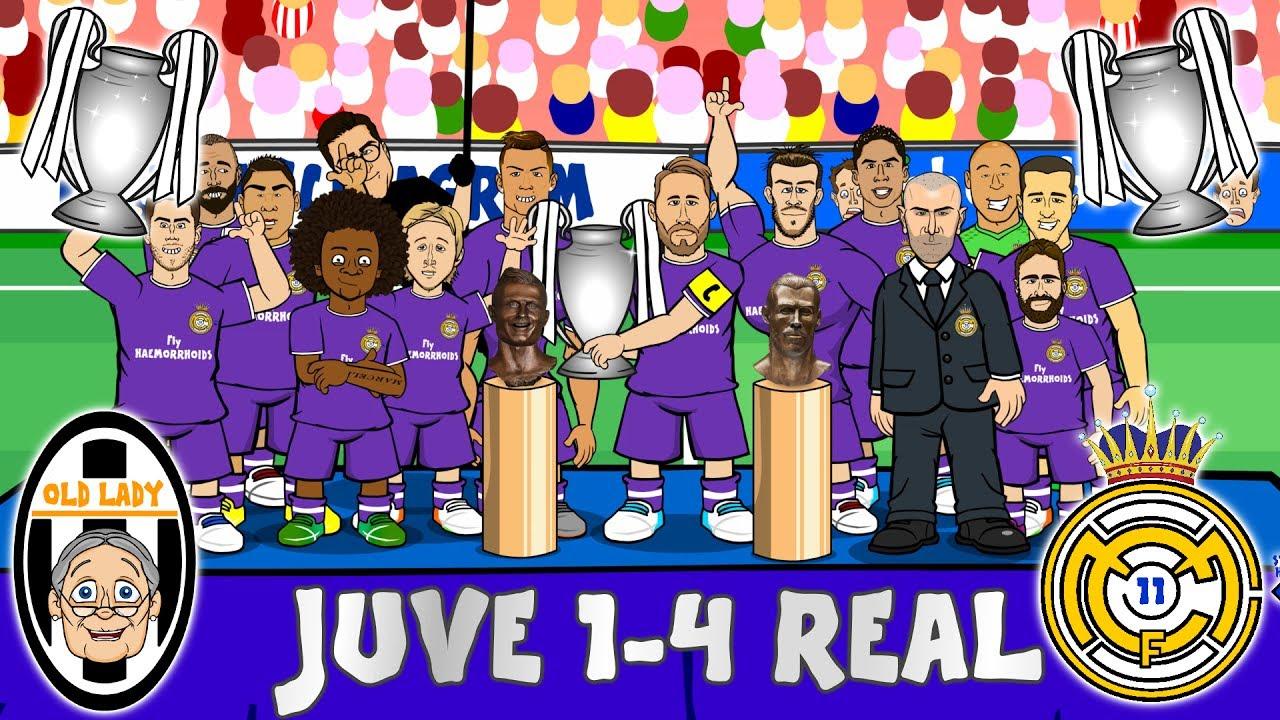 Juve 1 4 Real Madrid Duodecima Win Champions League Parody