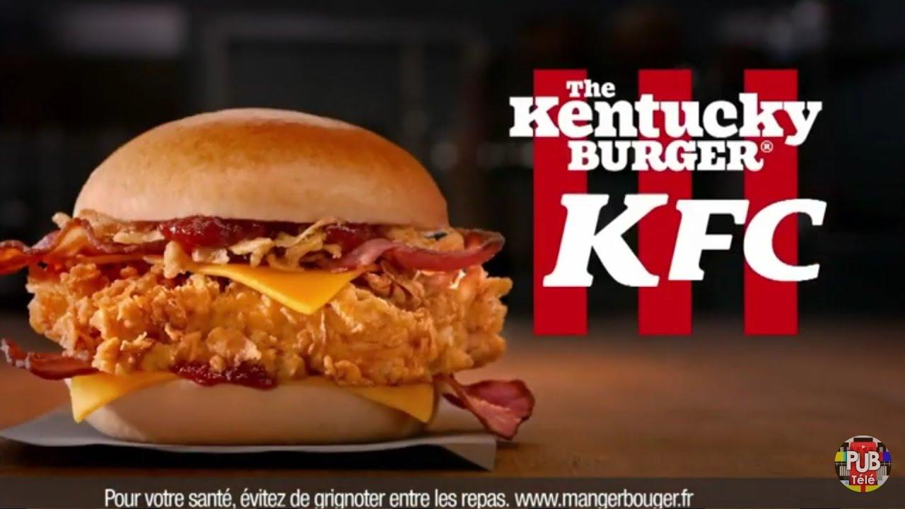 """Musique pub The Kentucky Burger KFC """"c'est comme un burger au bœuf sauf que c'est du filet de poulet""""  juillet 2021"""
