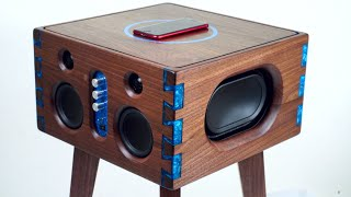 Epoxy Inlay Dovetails Bluetooth Speaker Build