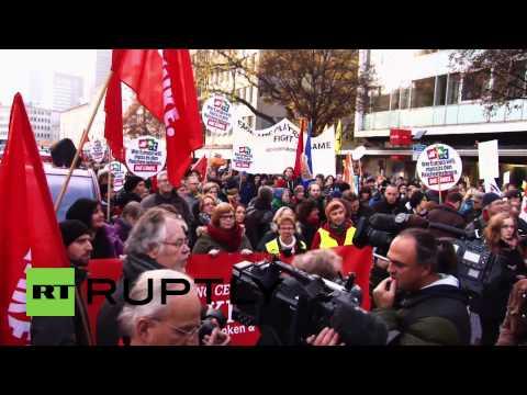 Germany: Protesters STORM ECB building, taste police tear gas