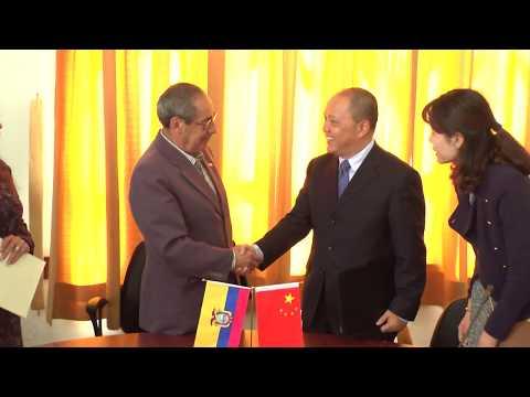 Se firma Carta de Intenciòn entre la Biblioteca Nacional de la CCE y la de China