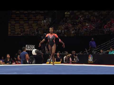 Shania Adams – Floor Exercise – 2018 U.S. Gymnastics Championships – Senior Women Day 2