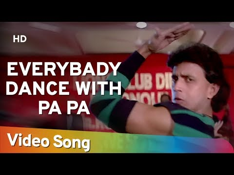 Everybody Dance With Pa Pa (HD) - Dance Dance Song -Mithun Chakraborty - Shakti Kapoor- Bappi Lahiri
