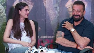 Sanjay Dutt And Aditi Rao Hydari Funny Interview | Bhoomi Press Conference