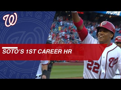 19-year-old rookie Juan Soto's first MLB homer