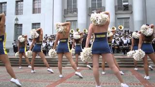 Cal Band Sproul Hall Rally vs. BYU 2014 Berkeley California (Indietronica Show)