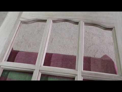 Дверь под стекло (штапик) / Wooden door production