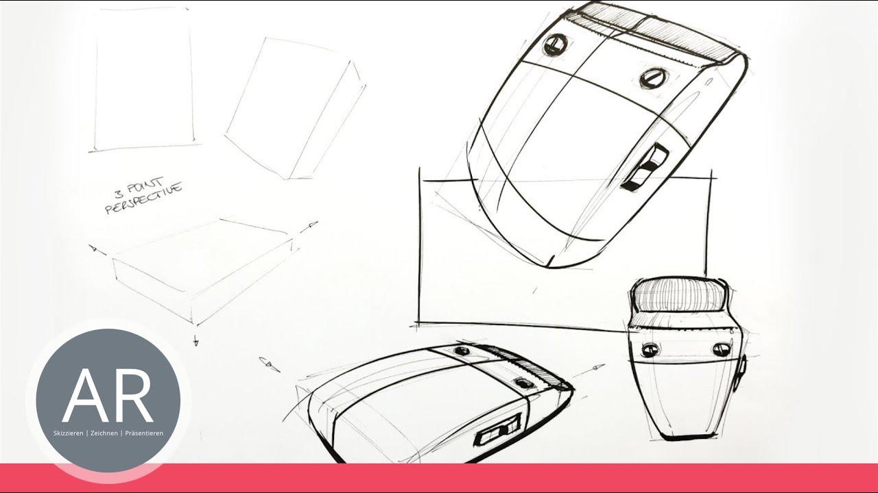 Zeichnen lernen komposition bei produktdesign 1 2 for Mappe produktdesign