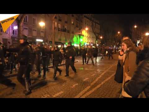 People Protesting Police Brutality In Paris