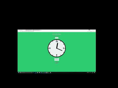 Clocks for Kids Web Application