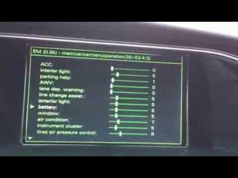 Audi A4 8k A5 8t Q5 8r Vorf 252 Hrung Mmi 3g Plus Hidden Menue Verstecktes Men 252 Youtube
