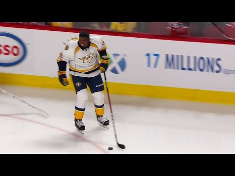 "Subban takes Bell Centre ice to massive cheers, ""PK"" chant"